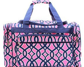 Monogrammed Ladies Large Duffle Bag, Tote Bag, Large Tote Bag, Personalized Duffle Bag, Luggage, Monogram Tote Bag, Duffle bag