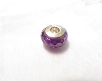 Chamilia Sterling Silver Purple Crystal European Bead