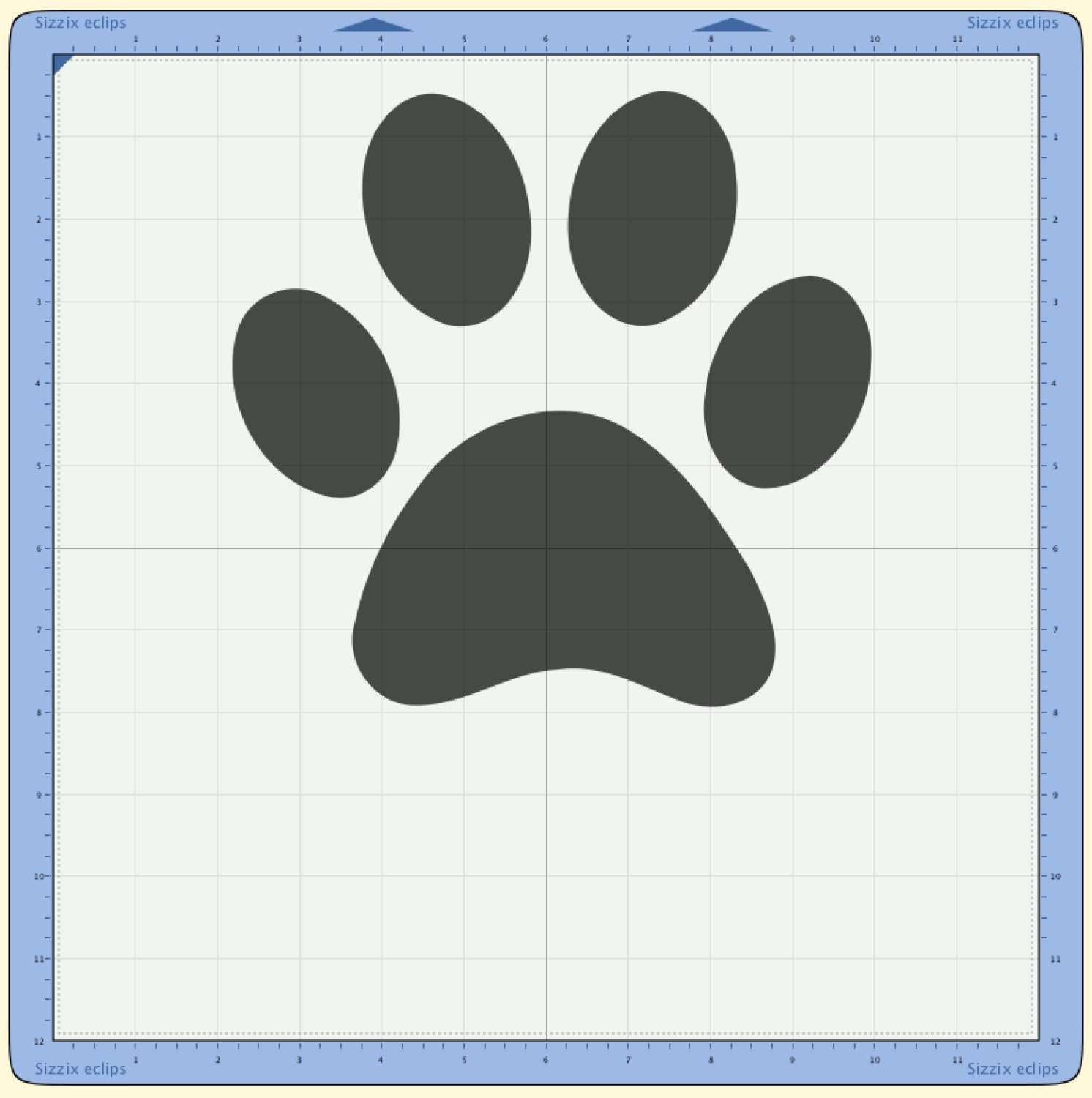 Download Puppy dog paw print Cutting file. SVG & Scut3 file formats ...