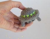 Miniature Flying Saucer Knitted Soft Ornament - Boys Stuffed Toy - UFO Ornament - Model Vehicle - Kids Room Decor - Mobile Supply