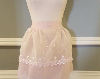 Vintage Apron Antique Apron Pink Apron