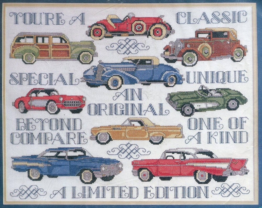Classic Cars Counted Cross Stitch Kit 14 X 18 Design Works