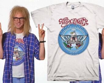 Wayne's World Garth Aerosmith T-shirt Halloween Costume Shirts Youth, Baby, Adult sizes S-3XL