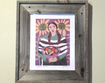 Weathered Cedar Wood Frame - FREE shipping