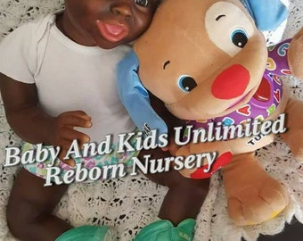 AA reborn toddler baby ,African American, Pleade read listing before ordering, Made to order, AA life like baby, baby made from Jordyn kit