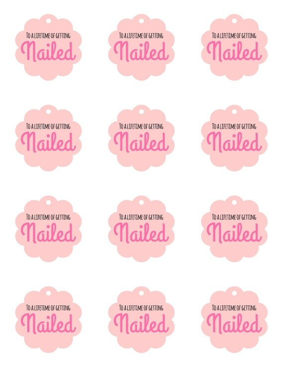 Bachelorette Party Favors Nail Polish Favor To A Lifetime Of Getting Nailed Bridal Shower Lingerie