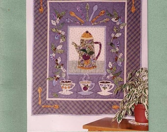 Java House quilt pattern, quilting pattern, wall quilt instructions, coffee pot cup quilt, applique quilt pattern, wall hanging pattern