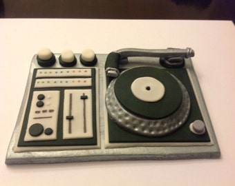 DJ Cake Topper &  6 Matching Cupcake Toppers