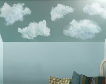 stickers muraux nuages etsy. Black Bedroom Furniture Sets. Home Design Ideas