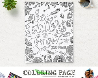 Printable Bible Verse Coloring Pages Instant Download Coloring Bible Verses Coloring Sheets