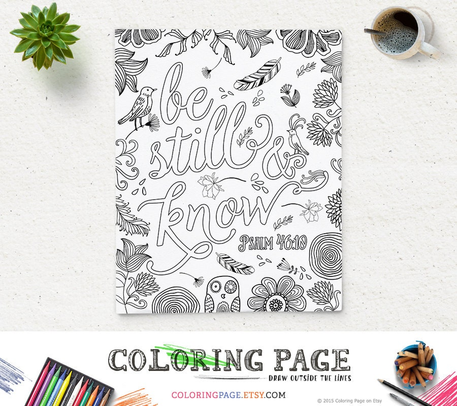 Psalms Coloring Page