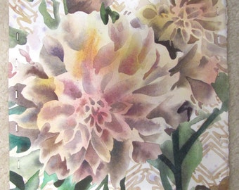 """When Fear Gets in the Way - 11""""x15"""" Dahlia Watercolor Painting"""