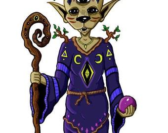 Custom DND Character, Custom RPG Art, Dungeons and Dragons, Custom Fursona Drawing, Pathfinder, Witchsona, DND Art, Original Art