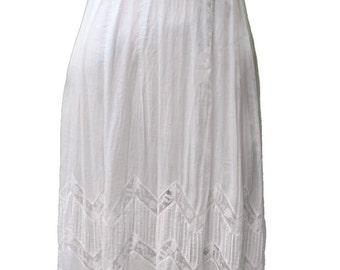 1900s Small Dress Victorian Lace Wedding Boho Cream Edwardian Steampunk Bridal Bridesmaid Summer Crocheted White Cream