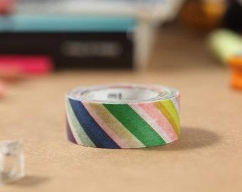 MT Washi Tape Colorful Stripe Japanese Masking Tape | mt for kids (MT01KID001)