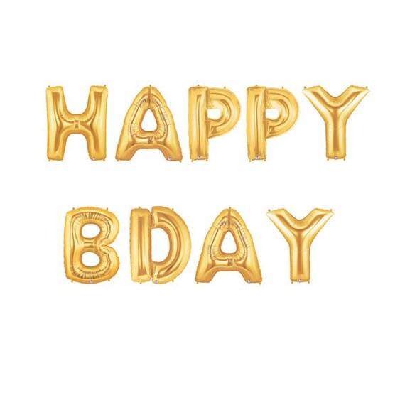 Happy Bday Letter Balloons Birthday