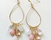 Cascade pink chandelier earrings