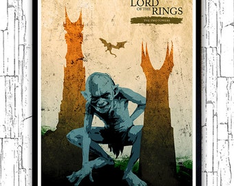 The Lord of the Rings - The Two Towers Minimalist Movie Poster