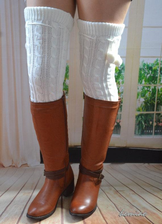 25in thigh high socks thigh highs leg warmers heavy