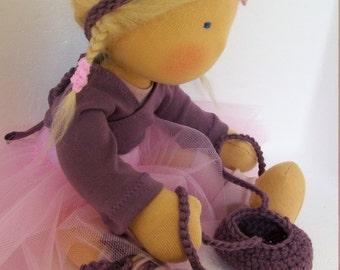 "Ballerina ""Anna"" 13-14 inch Nukino cuddle doll"