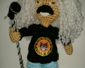 Yosi Domínguez soft figure amigurumi crochet wool made Spanish rock