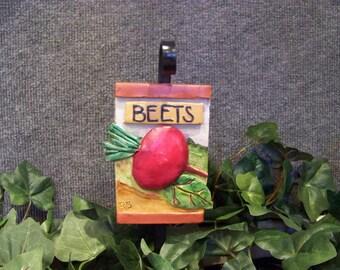 Handmade outdoor Beets vegetable garden marker