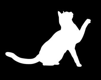 174 Playful Cat Decal