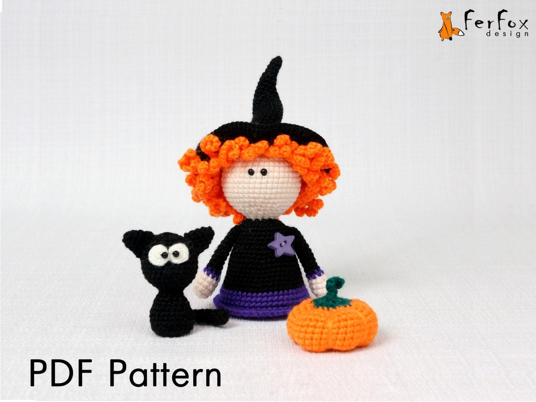 Halloween Pumpkin Amigurumi : Halloween amigurumi pattern Halloween crochet pattern Crochet