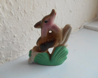 """Cute Vintage Retro Kitsch 1950s Mid Century Made in Japan Prancing Deer Fawn Ornament Accent Figurine (3.5"""" x 2.5""""/8.89cm x 6.35cm)"""