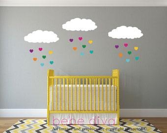 Wall Decals Nursery, Wall Decal Nursery, Nursery Wall Decal, Baby Wall Decal, REMOVABLE and REUSABLE