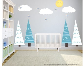 Tree Wall Decal, Tree Wall Decal Nursery, Wall Decals Nursery, Wall Decal Nursery, Nursery Wall Decal, Baby Wall Decal, REMOVABLE REUSABLE