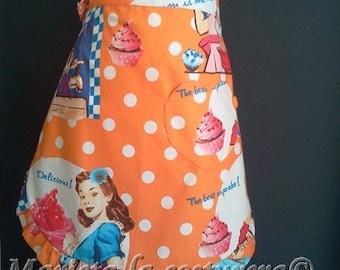 """Delantal /Apron/Tablier  """"American cupcake"""" modelo exclusivo único en stock"""