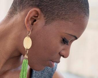Fringe earring - Tassel Earrings -Tassel Jewelry -fringe boho earrings - tassel Statement Earrings - handmade Earrings - Dangle