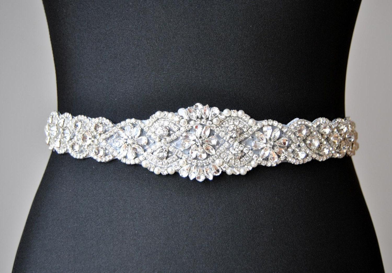 Unique Wedding Dress Sashes Belts: SALE 34 Wedding Dress Sash Belt Luxury Crystal Bridal