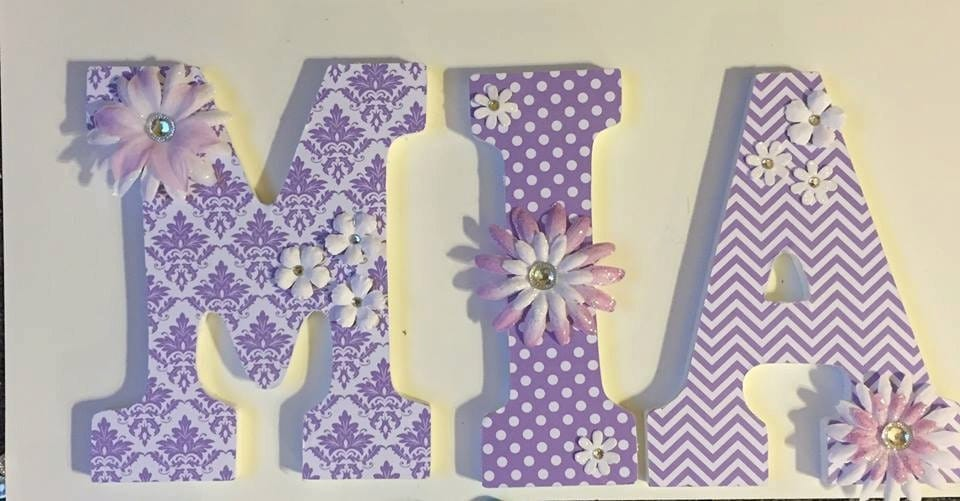 Lavender Baby Nursery Letters Wood Letters For Girls Wall