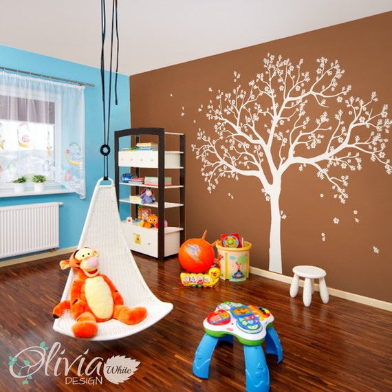 Large Wall Decals White Large Tree Decals White Tree