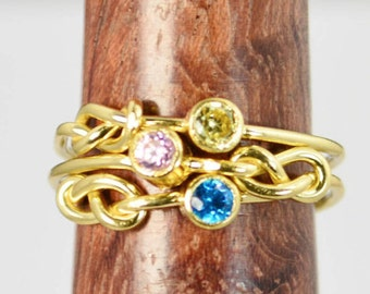 Grab 3 14k Gold Filled Infinity Ring, Gold Filled Ring, Stackable Rings, Mother Ring, Birthstone Ring, Gold Infinity Ring, Gold Knot Ring
