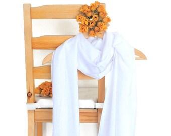 White Shawl Wedding Solid Color Scarf Pashmina Bridesmaid