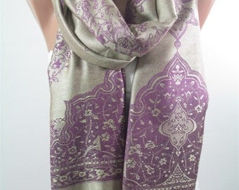 Pashmina Scarf Purple Scarf Shawl Wrap Wedding Shawl Scarf Bridesmaids Gifts Women Fashion Accessories Christmas Gift for her for women