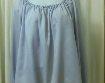 Pale Grey Silkie, Long Sleeve, Pirate Peasant Blouse, Size XL