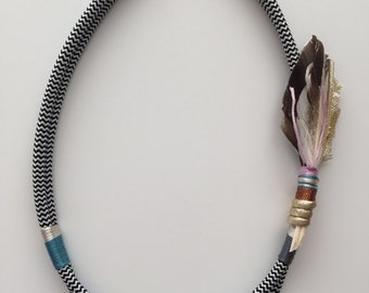 Tickle Your Fancy feathered necklace lilac