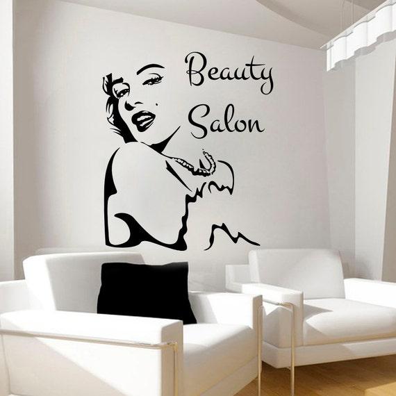 Beauty Salon Sticker Girl Face Art Wall Decals Vinyl By