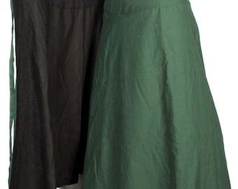 Wrap Maxi Reversible Skirt Cotton Long Skirt Boho Maxi Reversible Skirt Long Wrap Skirt Gypsy 2 Color Black Green Skirt Wrap Cotton Skirt