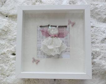 Handmade Fairy Dress in Box Frame