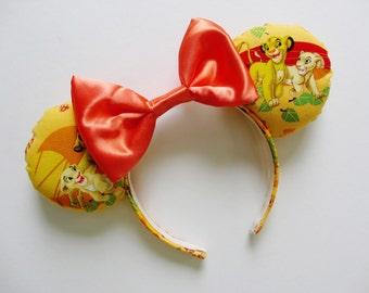 The Lion King Simba and Nala Print Mouse Ears Headband