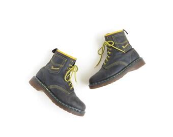 Dr Martens Doc Martens Boot 90s Grunge Doc Martin Ankle Boot with Pocket Denim Shoe Womens Vintage Doc Marten Boot Size US 6, EU 36.5, UK 4