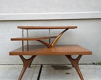 Funky Mid Century 3 Tiered Side Table