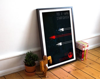 Star Wars X - Wing Minimalist Art Poster Print - (Available In Many Sizes)