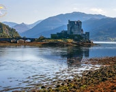 11x14, 13x19 - Scottish Castle Art Print - Scotland Photography - Nature Art, Highland Mountains, Lake Photo - Travel Art Gift, Wanderlust