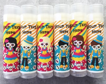 Day of the Dead Party Favors - Set of 6 - Dia de los Muertos - Birthday Favors - Halloween Party - Sugar Skulls Favors-Free Personalization